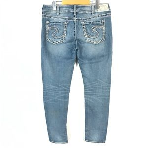 Silver suki mid pencil skinny jeans 34x31